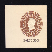 Puerto Rico: U10 4c Brown on White, Mint Full Corner, 46 x 47