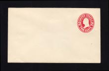 U411 UPSS# 1650-20 2c Carmine on White, die 1, Mint Entire