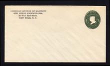 U400 UPSS# 1478-16 1c Green on White, die 1, Mint Entire, CC & Die Smudged