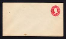 U411c UPSS# 1709-18 2c Carmine on White, die 4, Mint Entire, Stain Bottom