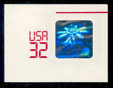 U639 32c Space Shuttle Hologram, Mint Full Corner