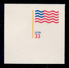 U642 33c Flag, Mint Full Corner