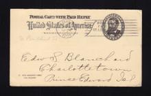 UY3  to Prince Edward Island, 1903 WORLD'S FAIR Cancel
