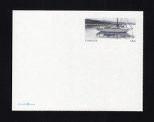 UX633 UPSS# 641Ca 32c Sailboart, Single from Sheetlet, Mint Postal Card