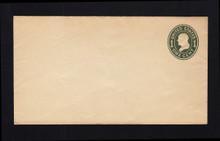U400c UPSS# 1516-17 1c Green on White, die 4, Mint DOUBLE Envelope, War Paper