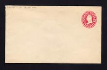 U411 UPSS# 1639-15 2c Carmine on White, die 1, Mint Entire, DOUBLE Envelope