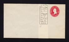 U411c UPSS# 1709-16 2c Carmine on White, die 4, Mint Entire, DOUBLE Envelope