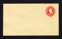 U412 UPSS# 1765-18 2c Carmine on Amber, die 1, Mint Entire, DOUBLE Envelope