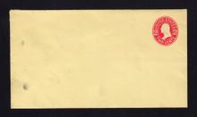 U412c UPSS# 1815-15 2c Carmine on Amber, die 4, Mint Entire, DOUBLE Envelope