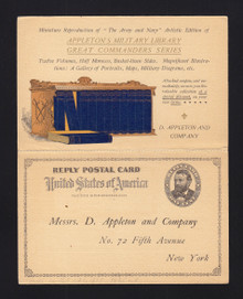UY1 1c M/R Card Colored Advertising Appleton's Military Library