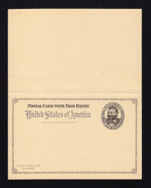 "UY1 UPSS# MR1 1c Grant ""Universal Postal Congress"" Overprint, Folded, All are Folded"