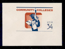U648 34c Community College, Mint Full Corner