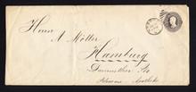 U204 30c UPSS# 613-5 Hoboken NJ to Germany, 1885