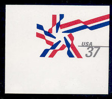 U649 37c Ribbon Star, Mint Full Corner