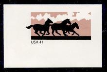 U662 41c Horses, Mint Full Corner