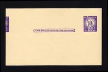 UX46 UPSS# S63 3c Foreshortened Double Impression, Mint Postal Card