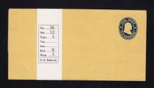 W20 UPSS # 34/T3 1c Blue on Buff, die 1, Mint Wrapper