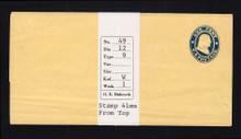 W20 UPSS # 34a/T9 1c Blue on Buff, die 1, Mint Wrapper