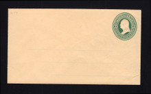U84 UPSS # 193A 3c Green on Cream, Mint Entire, with Ruled Lines