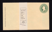 U84 UPSS # 197A 3c Green on Cream, Mint Entire, GR with Ruled Lines
