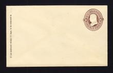 U188 UPSS # 542a 10c Brown on Amber, Mint Entire, GR
