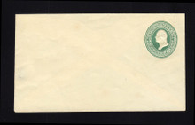 U160 UPSS # 368d 3c Green on Amber, die 1 CENTENNIAL, Mint Entire, Piece Missing Back