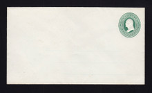U82 UPSS # 176A 3c Green on White, Mint Entire, with Ruled Lines, Hinges on Back