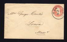 U3 UPSS # 5A 3c Red on White, die 2, Used Entire, ERP July 8, 1853