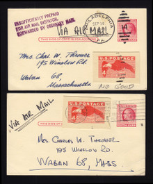UXC1 Cut-Outs Used on UX38 for Air Mail Use