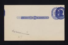 UX22b UPSS# S30Bc 1c William McKinley, Blue on bluish, Triple Impression, Mint Postal Card
