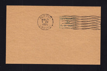 1952 Revalued Surcharge on Kraft Paper with 1955 Albany, OR Cancel