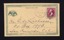 UPSS # S1E-Ea American Post Card Co. Essay Mailed 1890 from Lafayette, IN