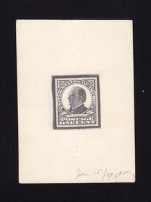 UPSS # S24E-Bb 1907 Untrimmed Typograph Die Essay, 1 Known