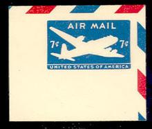 UC26 7c Jet Arliner, Blue, Mint Full Corner