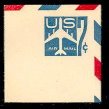 UC33 7c Jet Arliner, Blue, Mint Full Corner
