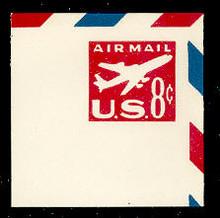 UC36 8c Jet Arliner, Red, Mint Full Corner