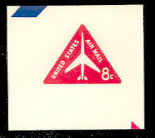 UC37 8c Jet Arliner, Red, Mint Full Corner