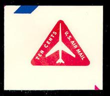 UC40 10c Jet Arliner, Red, Mint Full Corner