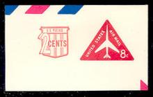 UC41 8c +2c Jet Arliner, Red, Mint Full Corner