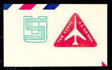 UC45 10c +1c Jet Arliner, Red, Mint Full Corner