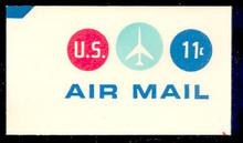 UC43 11c Jet Plane, Red & Blue, Mint Full Corner