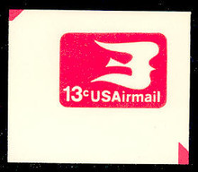 UC47 13c Bird in Flight, Red, Mint Full Corner