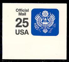 UO78 25c Great Seal, Black & Blue, Mint Full Corner