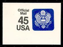 UO79 45c Great Seal, Black & Blue, Mint Full Corner