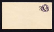 U446 UPSS# 2737-20 2c on 3c Dark Violet on White, die 1, Mint Entire