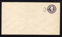 U446 UPSS# 2738-20 2c on 3c Dark Violet on White, die 1, Mint Entire