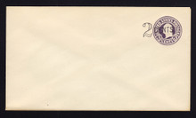 U446 UPSS# 2738-19 2c on 3c Dark Violet on White, die 1, Mint Entire