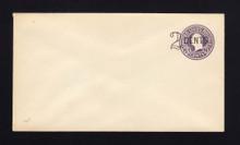 U446a UPSS# 2739-19 2c on 3c Dark Violet on White, die 5, Mint Entire