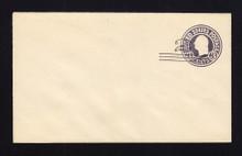 U448 UPSS# 2745-20 2c on 3c Dark Violet on White, die 1, Mint Entire