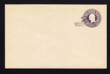U448 UPSS# 2748-20 2c on 3c Dark Violet on White, die 1, Mint Entire